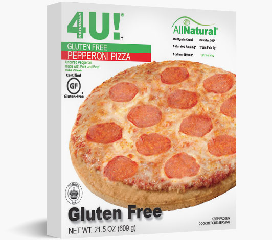 Multiserve Gluten Free Uncured Pepperoni Pizza