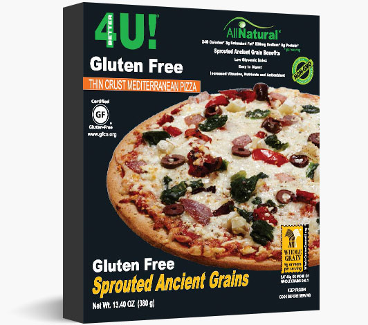 Thin Crust Gluten Free Sprouted Ancient Grains Mediterranean Pizza