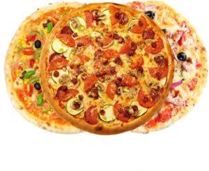 various pizzas